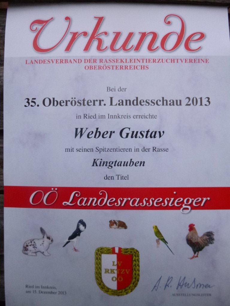 Landesschau /Ried 2013 King Braun